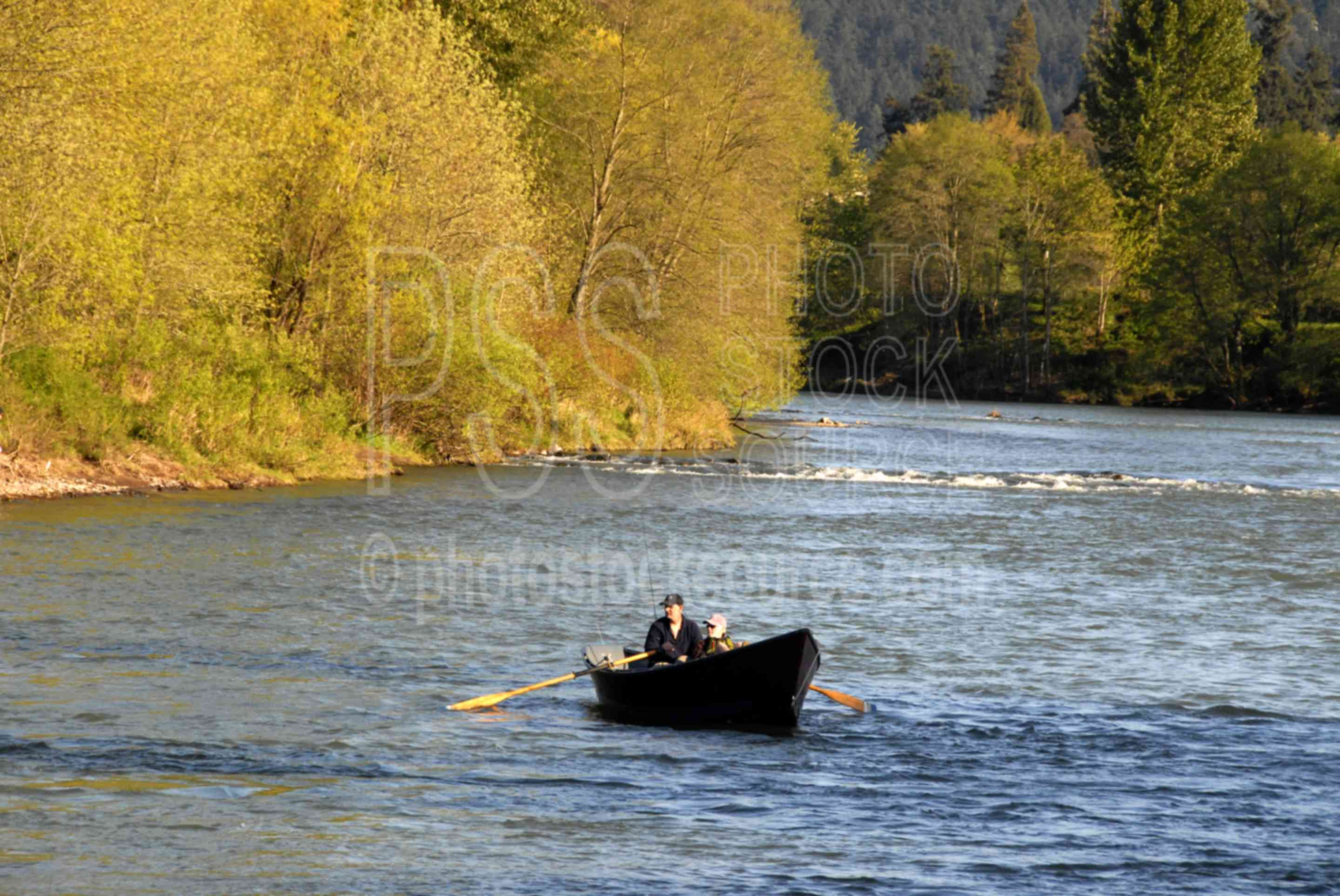 Photo of river boat by photo stock source river eugene for Fishing eugene oregon