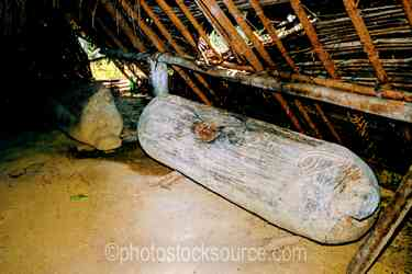 Garamut Drum - Garamut slit drum using for inter-village communication