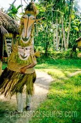 Man in Tambuan Mask