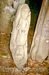 Carved Figure - Carved figure inside of a haus tambaran