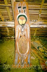 Wooden Carving - Wooden carving inside of a haus tambaran