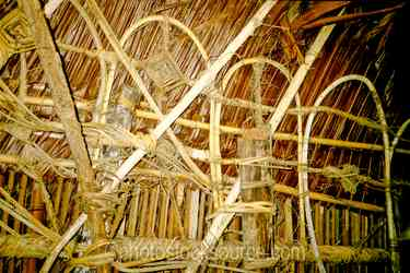 Haus Tabaran Detail - The woven detail inside of a haus tambaran