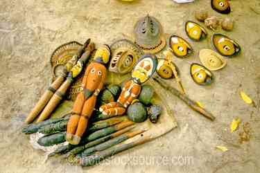Carvings Yam Masks