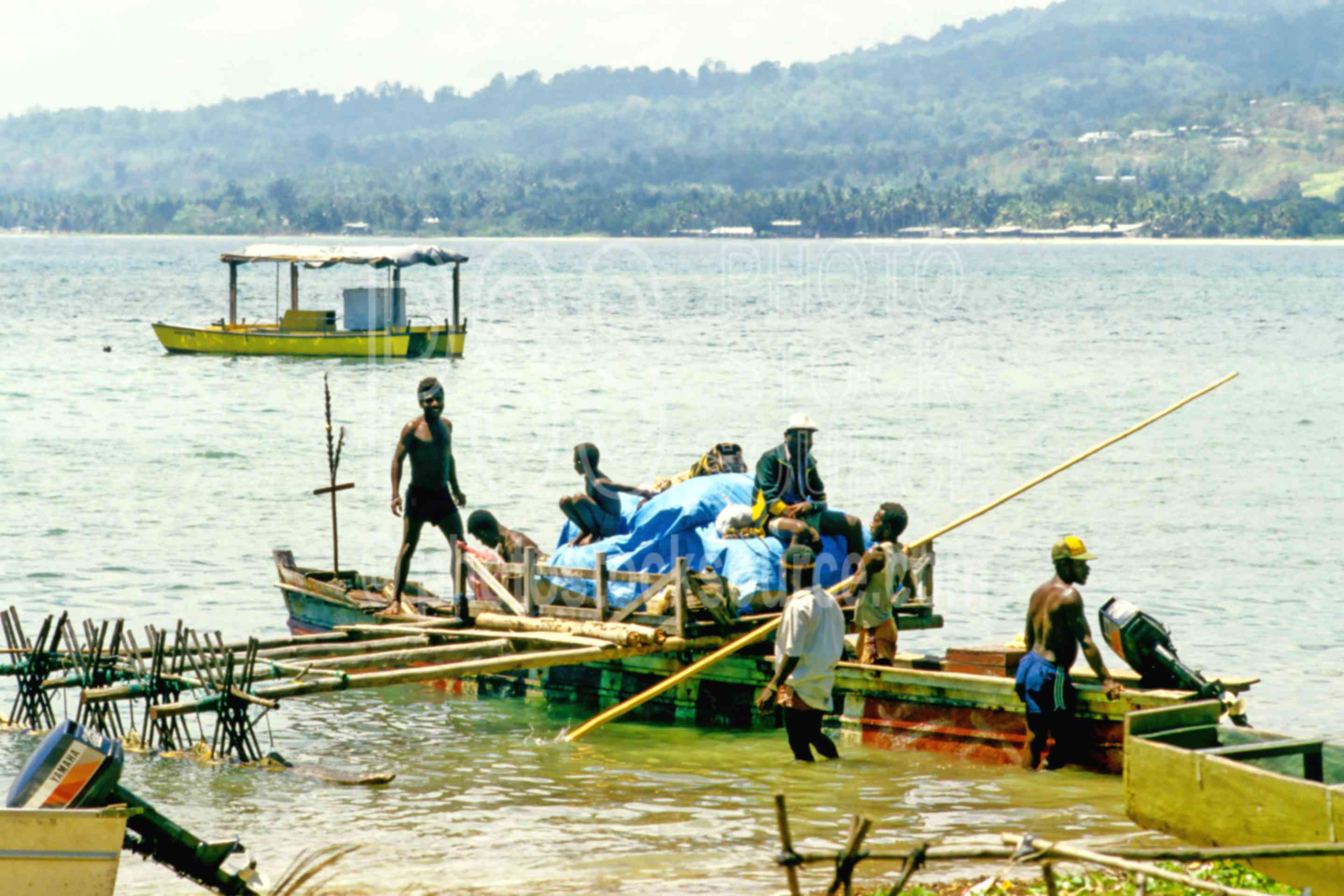 Men Working on Boat,people,boats