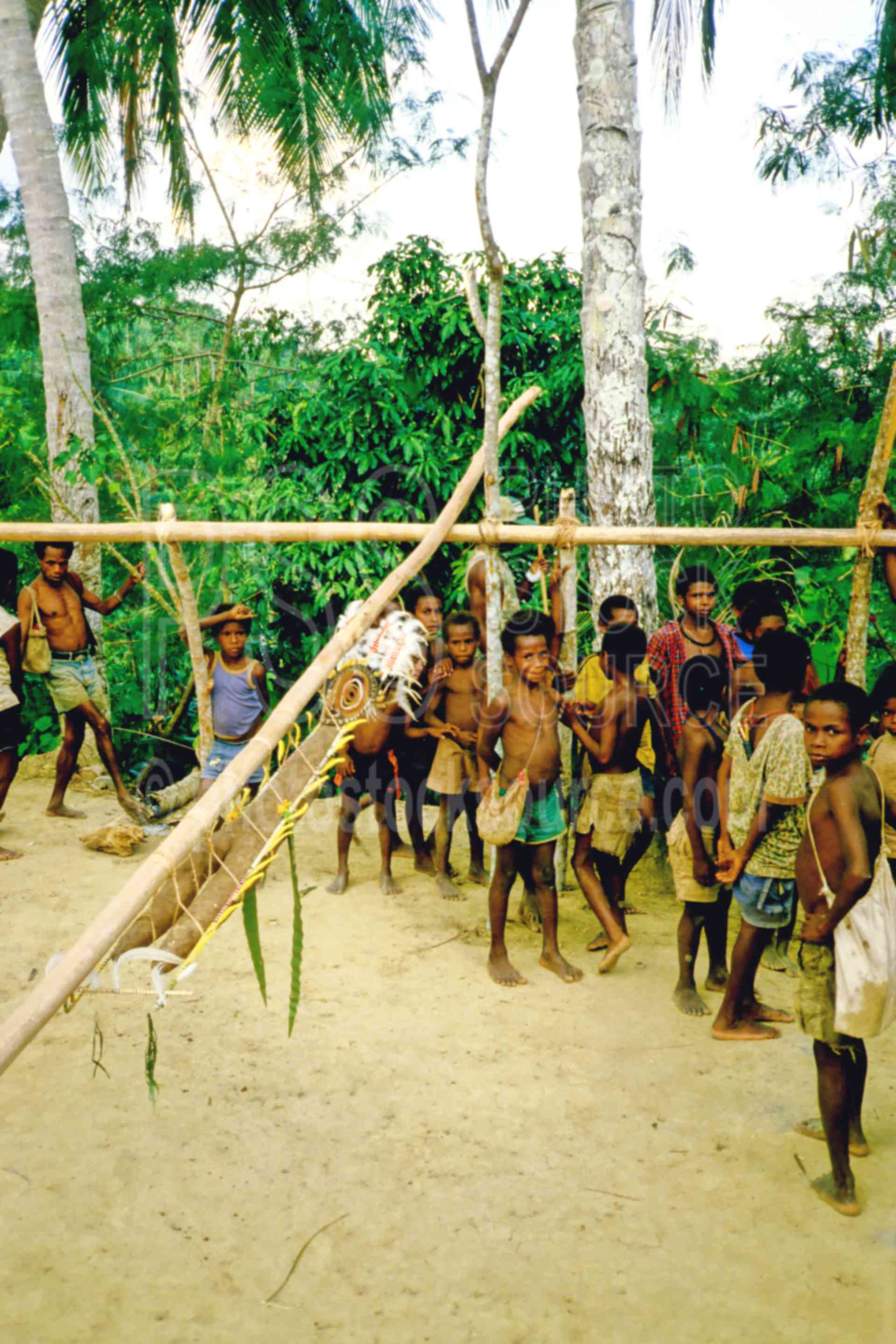Yam Ceremony,boys,ceremony,dancing,gathering,yams,PNG ceremonies