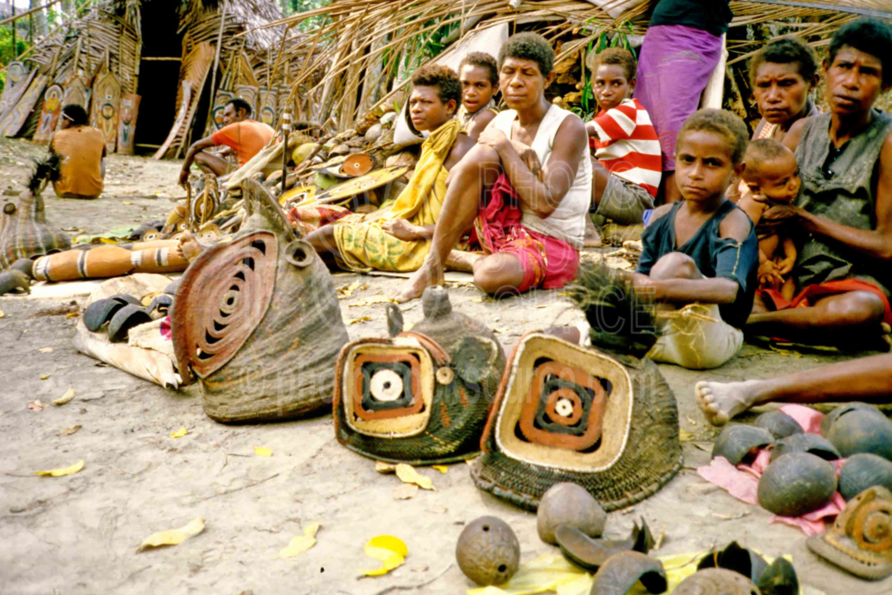 Villagers Yam Masks,artifacts,carvings,market,mask,masks,yam mask,png markets,PNG ceremonies