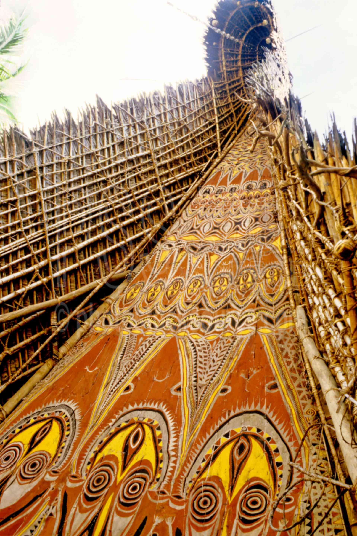 Haus Tambaran,arts,bark painting,huts,painting,villages