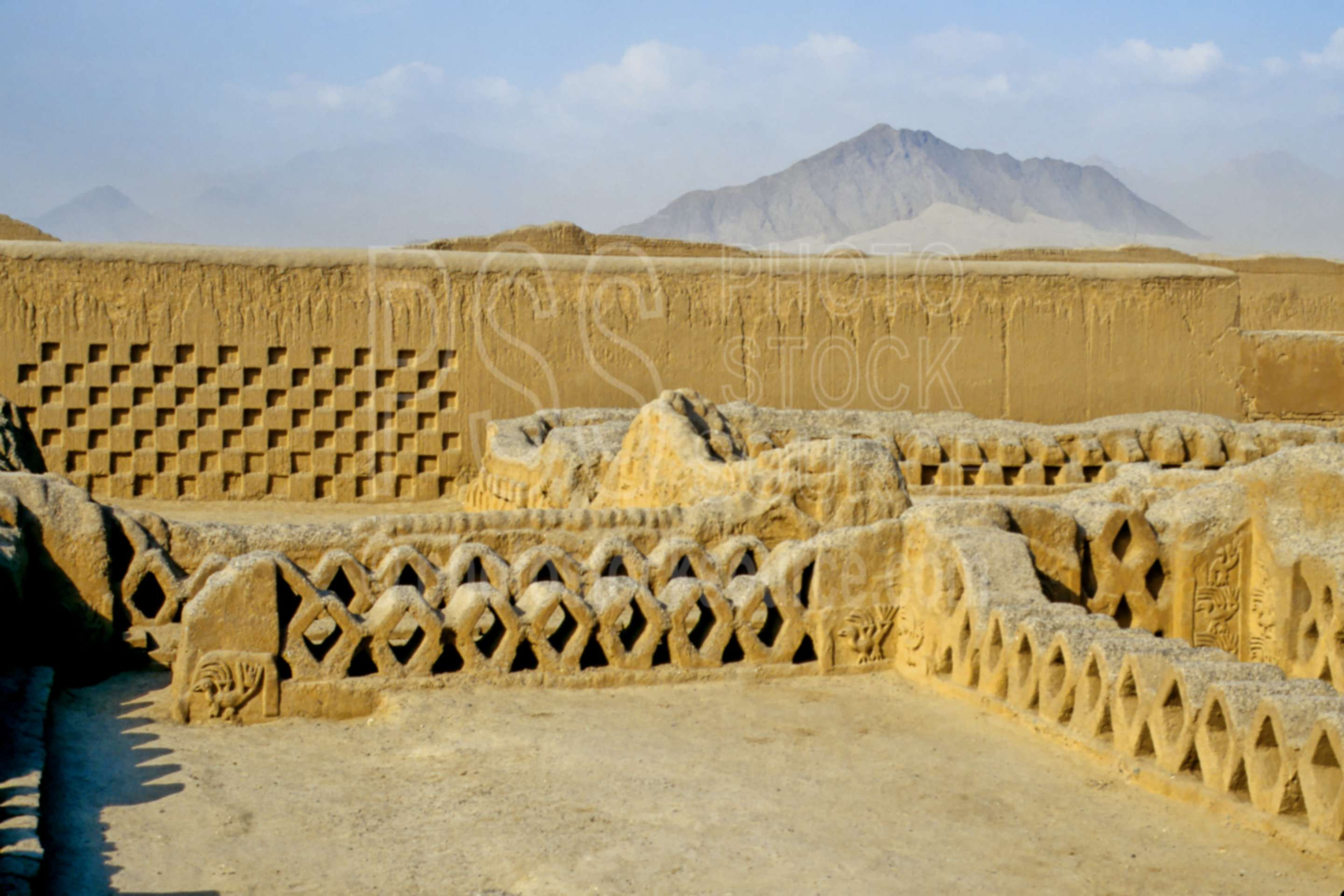 Photo of Decorated Walls by Photo Stock Source ruin, Chan Chan ...