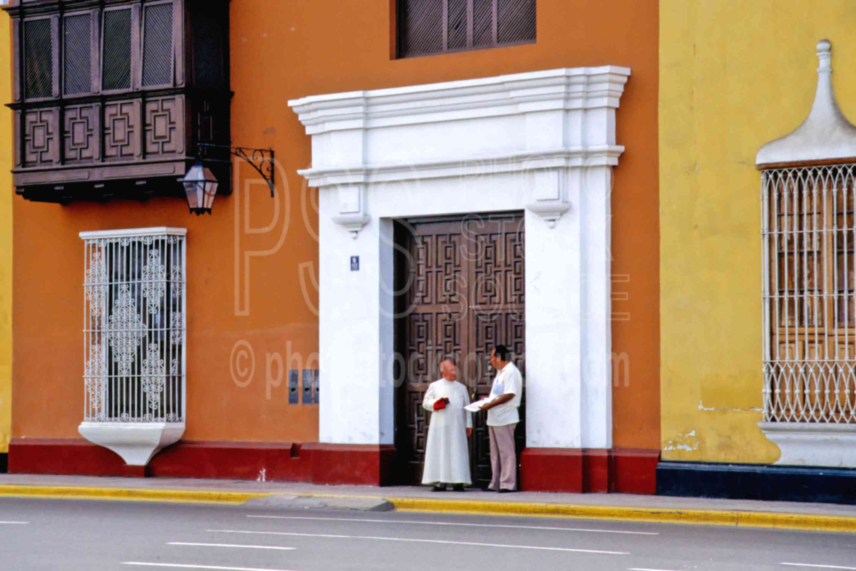 Colored Buildings,color,street,religious people