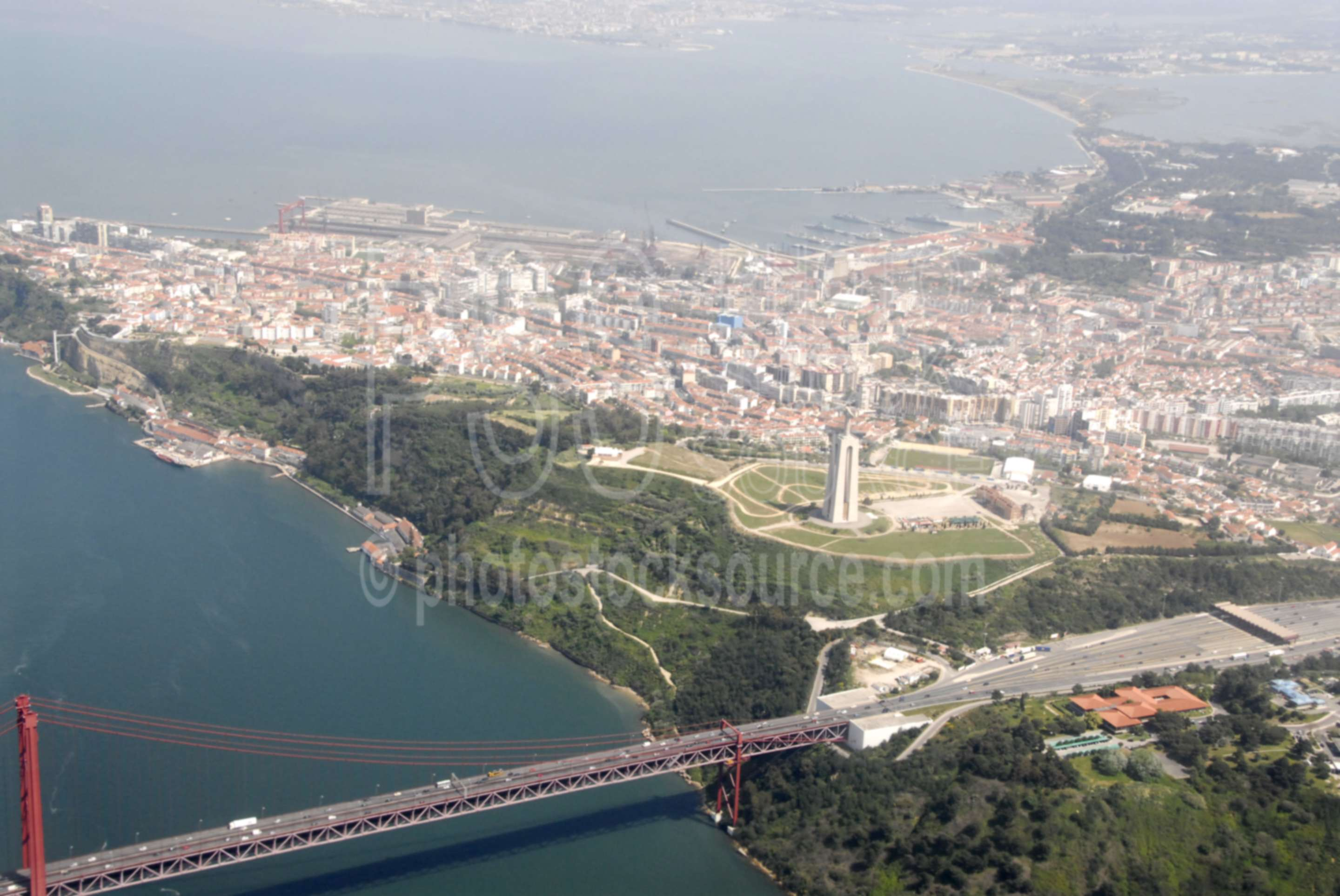 Twenty-fifth of April Bridge,tagus river,statue,monument,bridge,25th,bridges