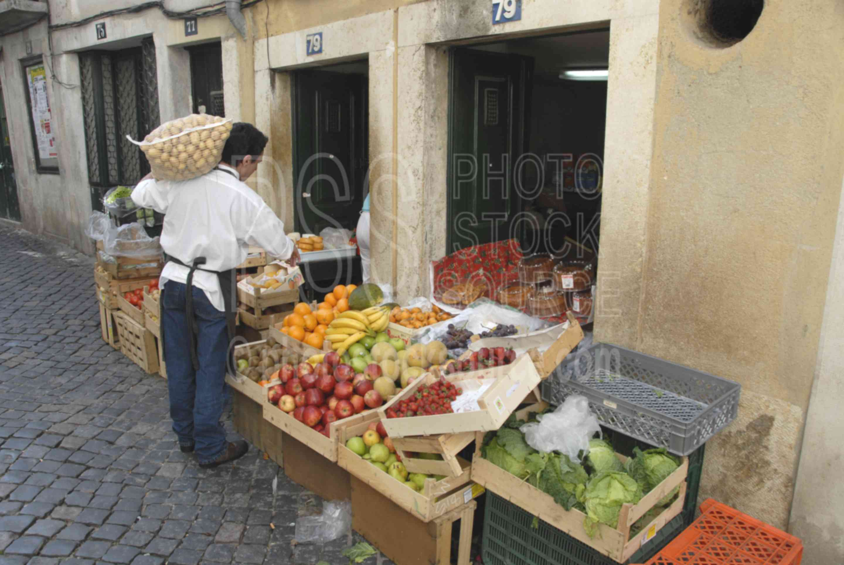 Small Store,alley,alleyway,store,mans,fruit,markets