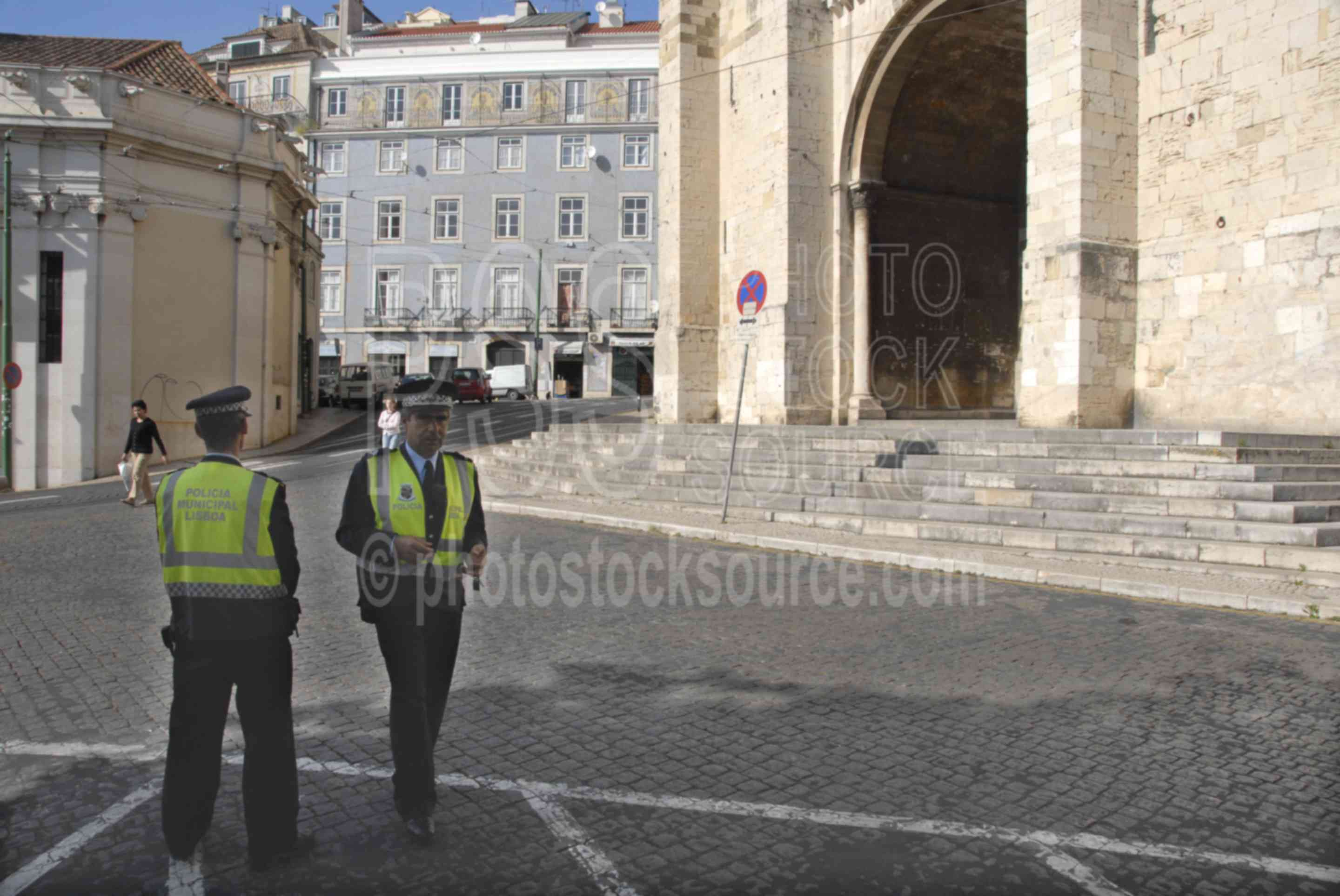 Police at the Cathedral,police,mans,policeman,church,churches