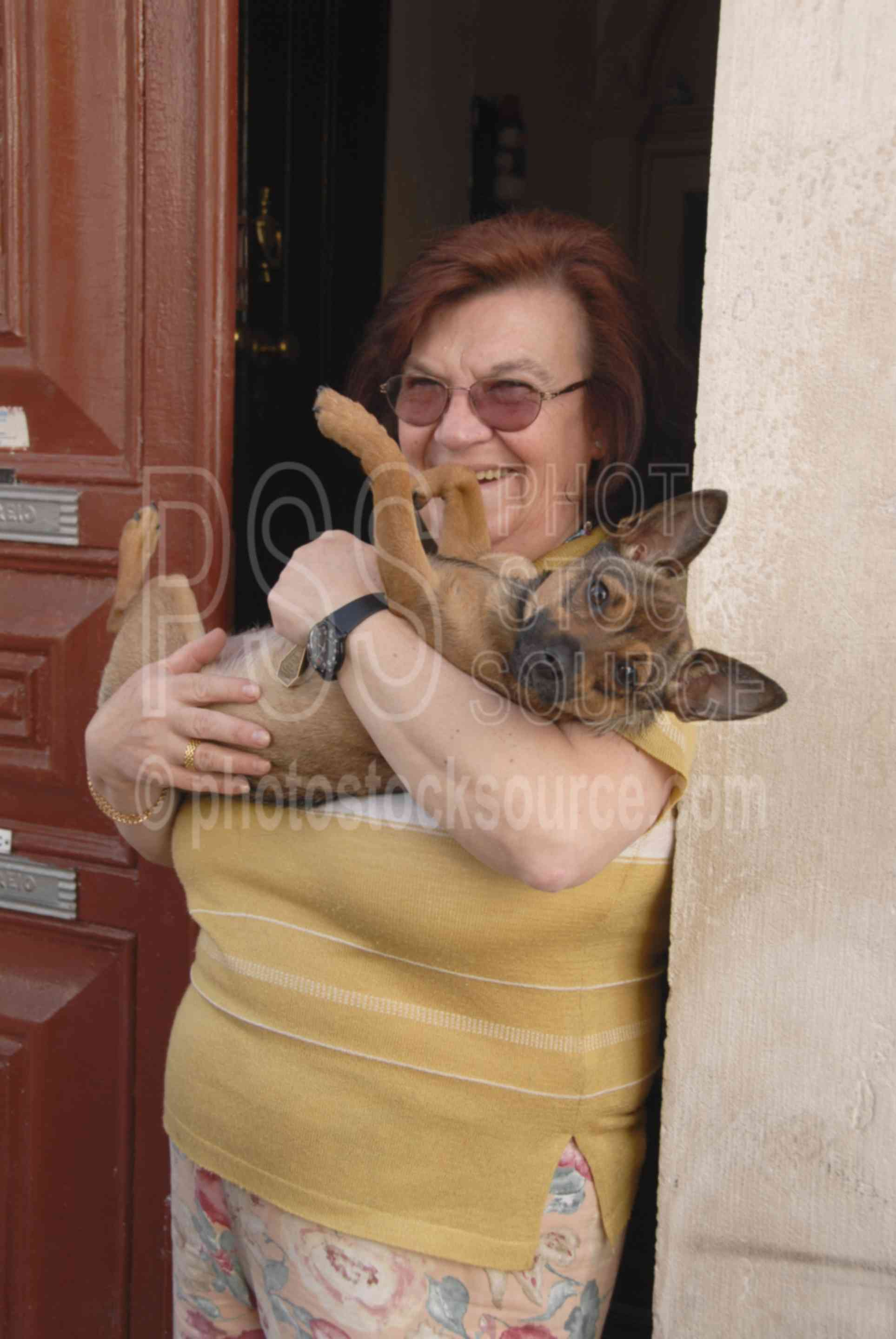 Lady and her Dog,dogs,animal,pets