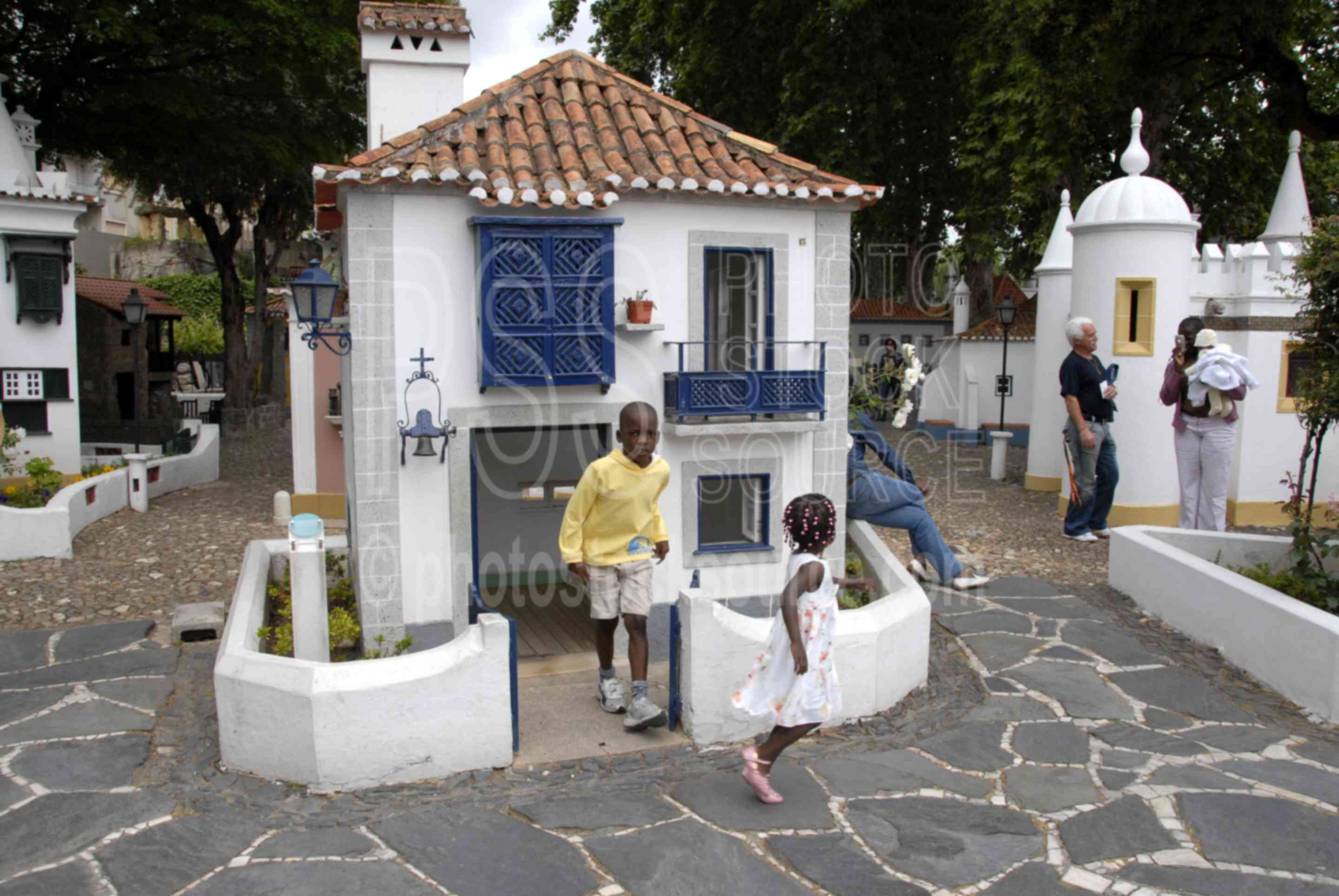 Children Playing,children,portugal dos pequenitos,houses,child,playing,play,minature houses