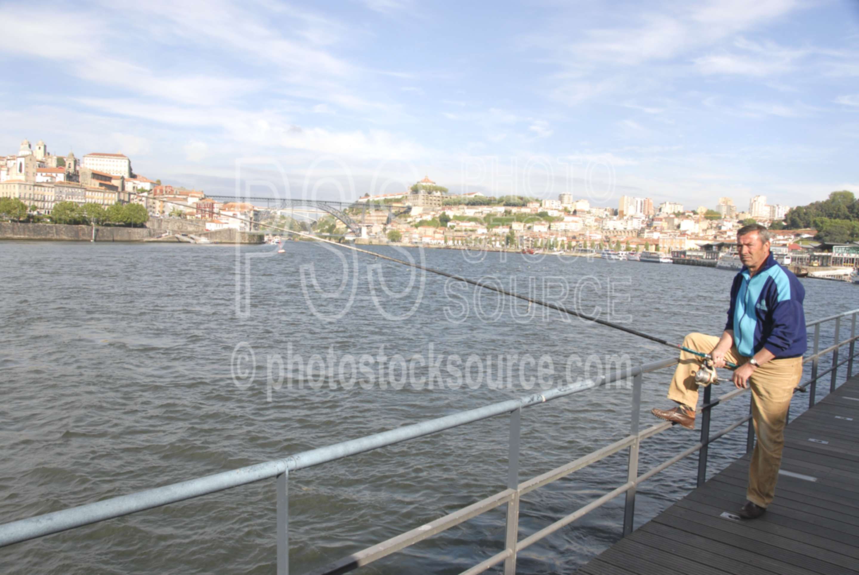 Douro River Fisherman,porto,oporto,waterfront,fisherman,fishing