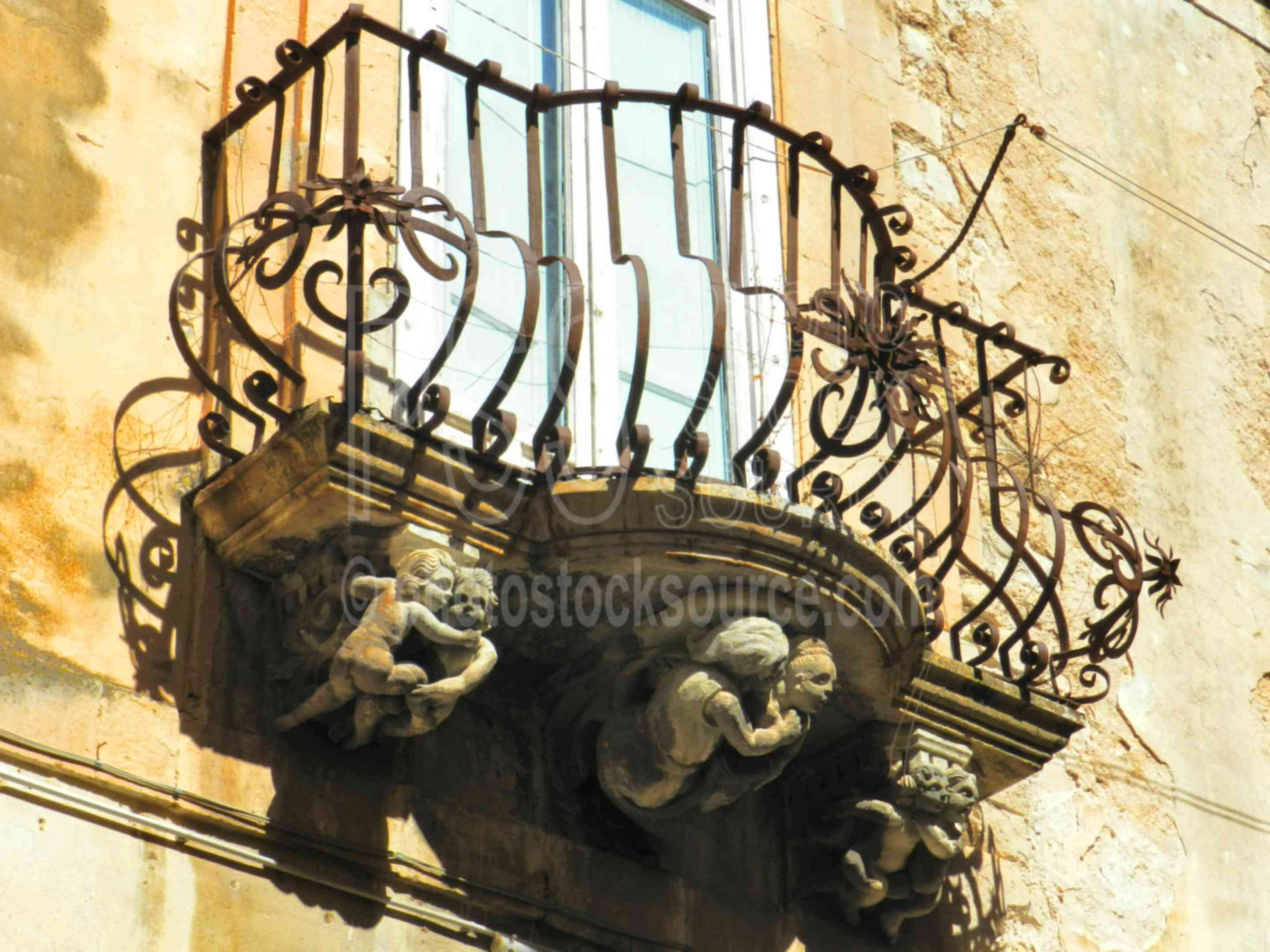 Baroque Balcony Terracotta,ragusa,ragusa ibla,baroque,balcony,wrought iron