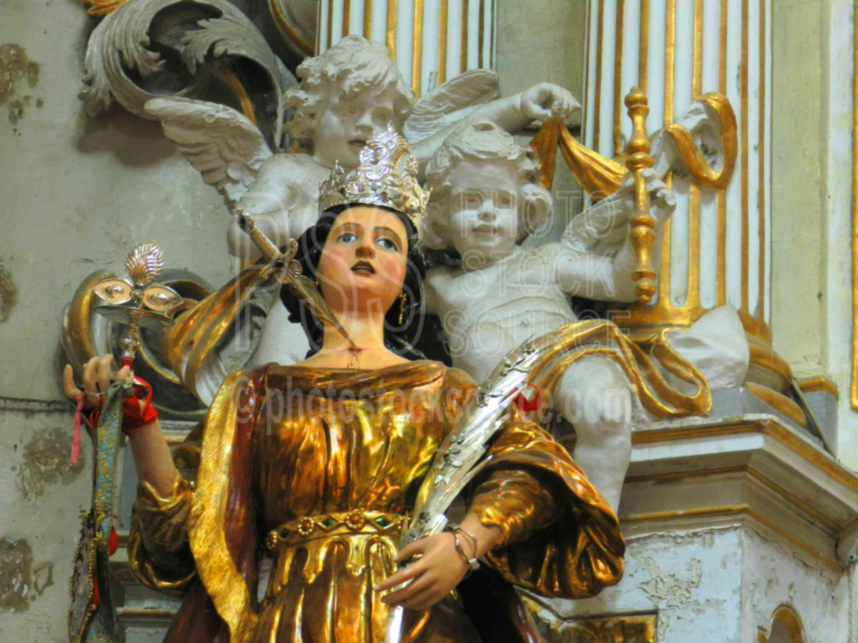 Statue of Santa Lucia,modica,church,baroque,cathedral,interior,statue,santa lucia,saint lucy
