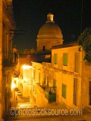 Noto Cathedral Dome at Night