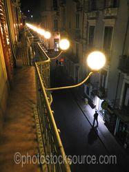Photo of Picini Street at night