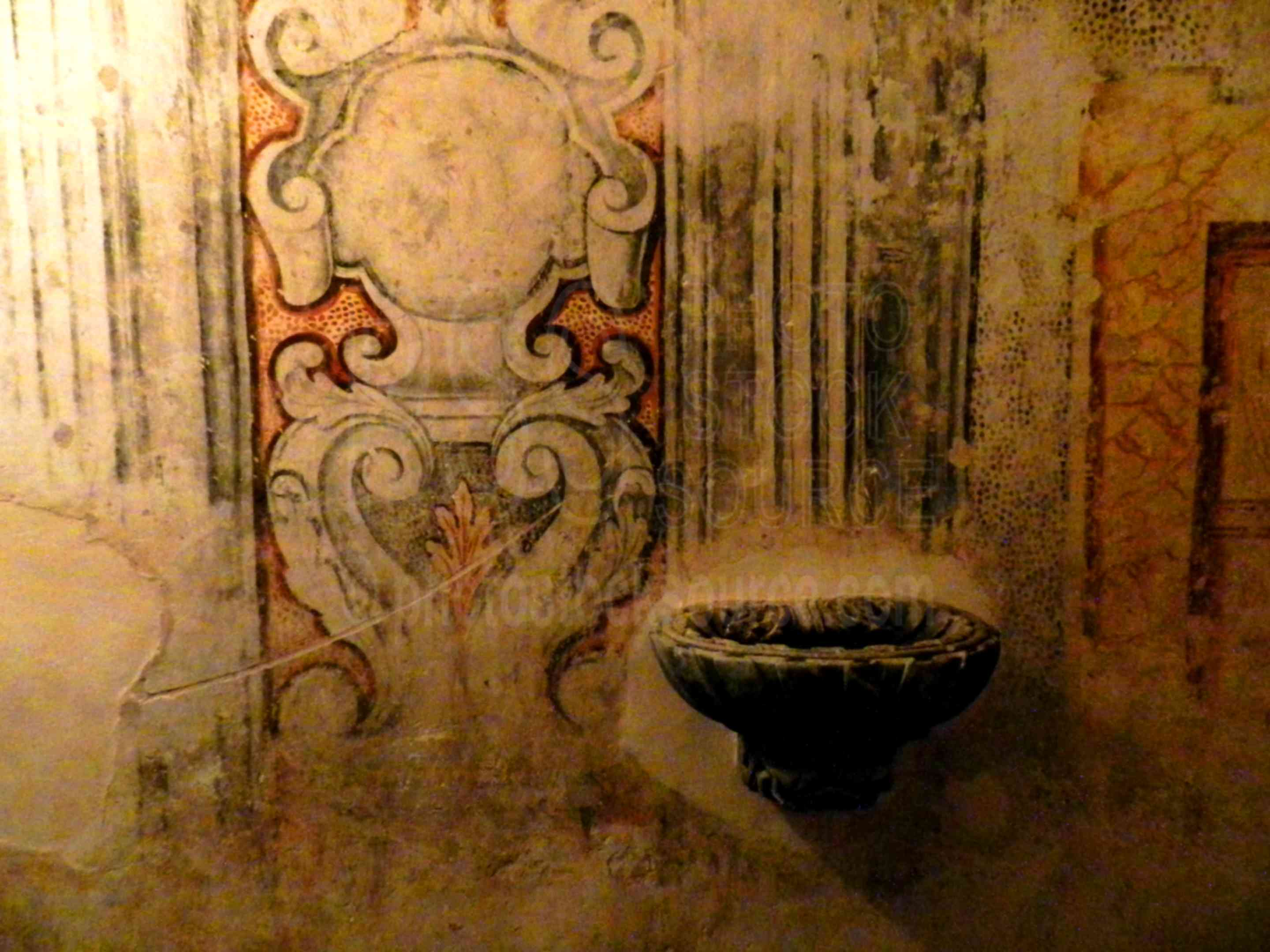 Holy Water Font,ragusa,ragusa ibla,church,fresco,night,holy water,font