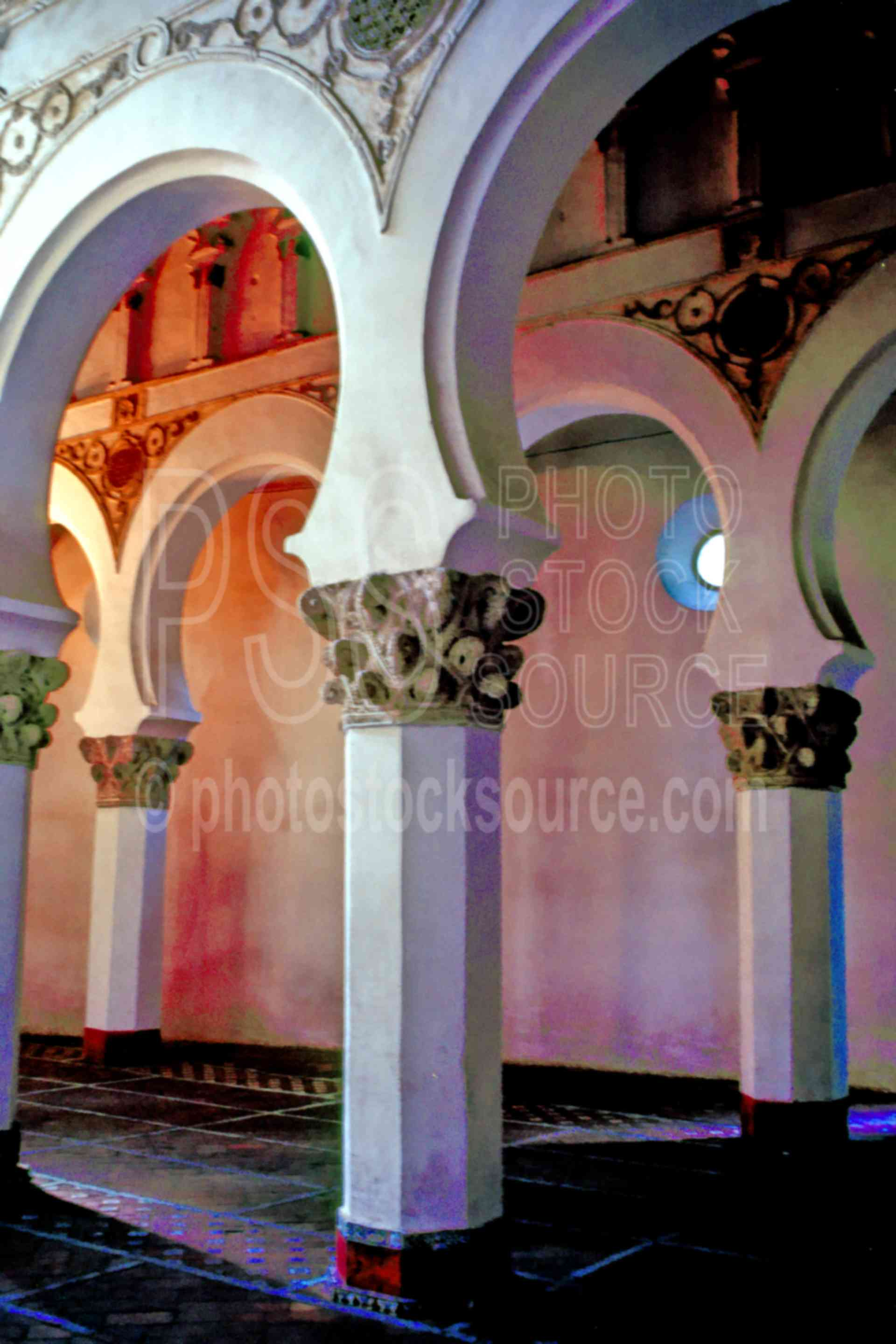 Moorish Arches,arch,europe,moorish,moorish arch,spain churches mosques,architecture