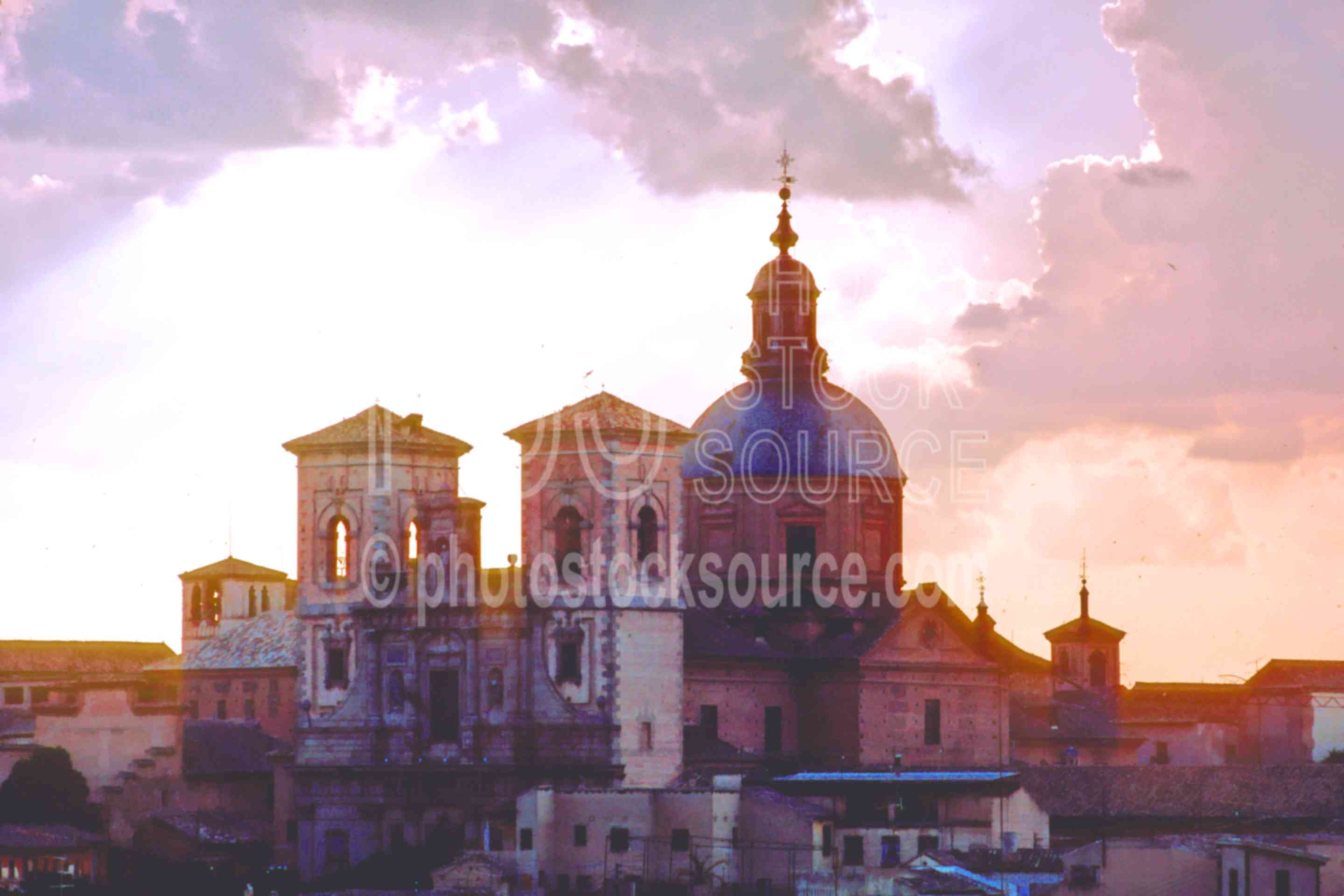 Cathedral near Sunset,cathedral,cloud,europe,sunset,architecture,churches,religion