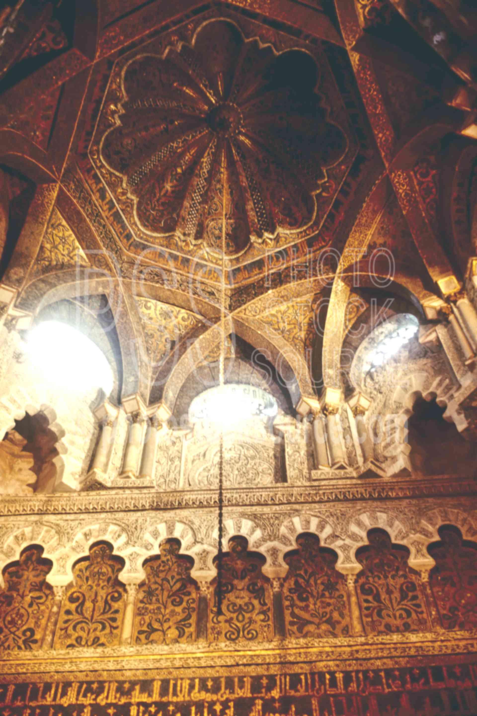 Mihrab Ceiling,europe,mezquita,mihrab,moorish arch,architecture