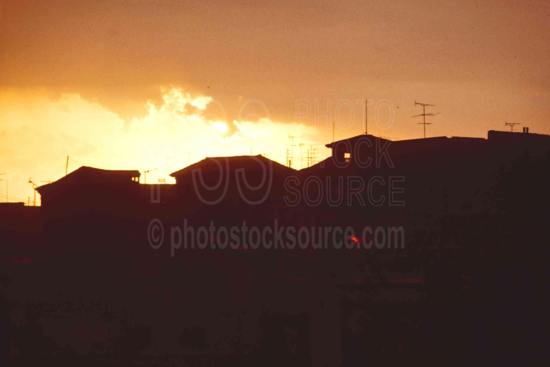 Skyline Sunset,europe,skyline,sunset