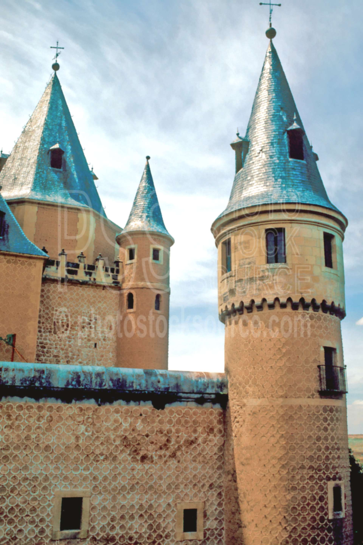 El Alcazar,castle,europe,spain,tower,castles