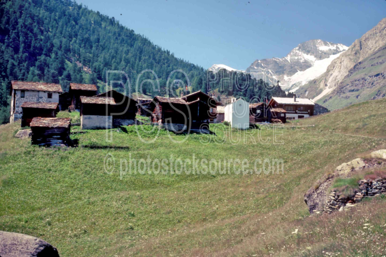 Zmutt Village,europe,village,villages,mountains
