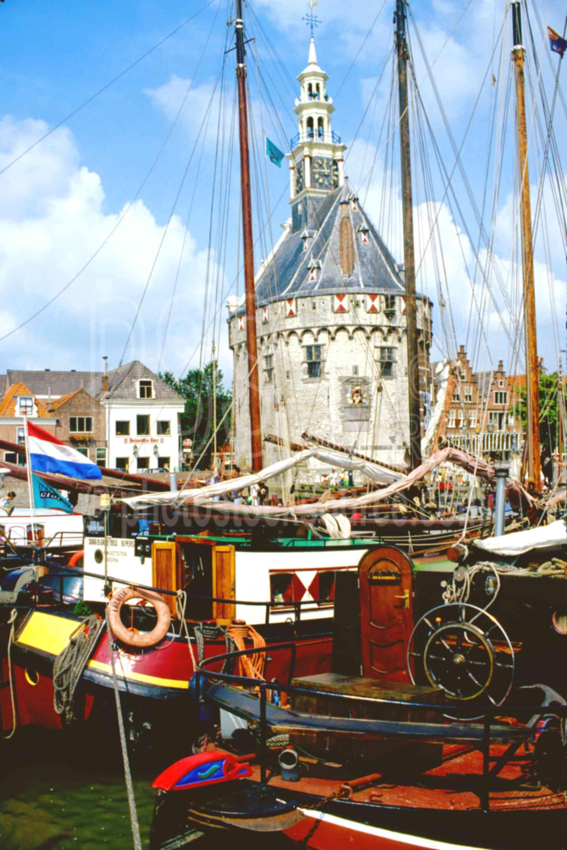 Hoofdtoren Tower,europe,harbor,holland,hoofdtoren,tower,wharf,boats