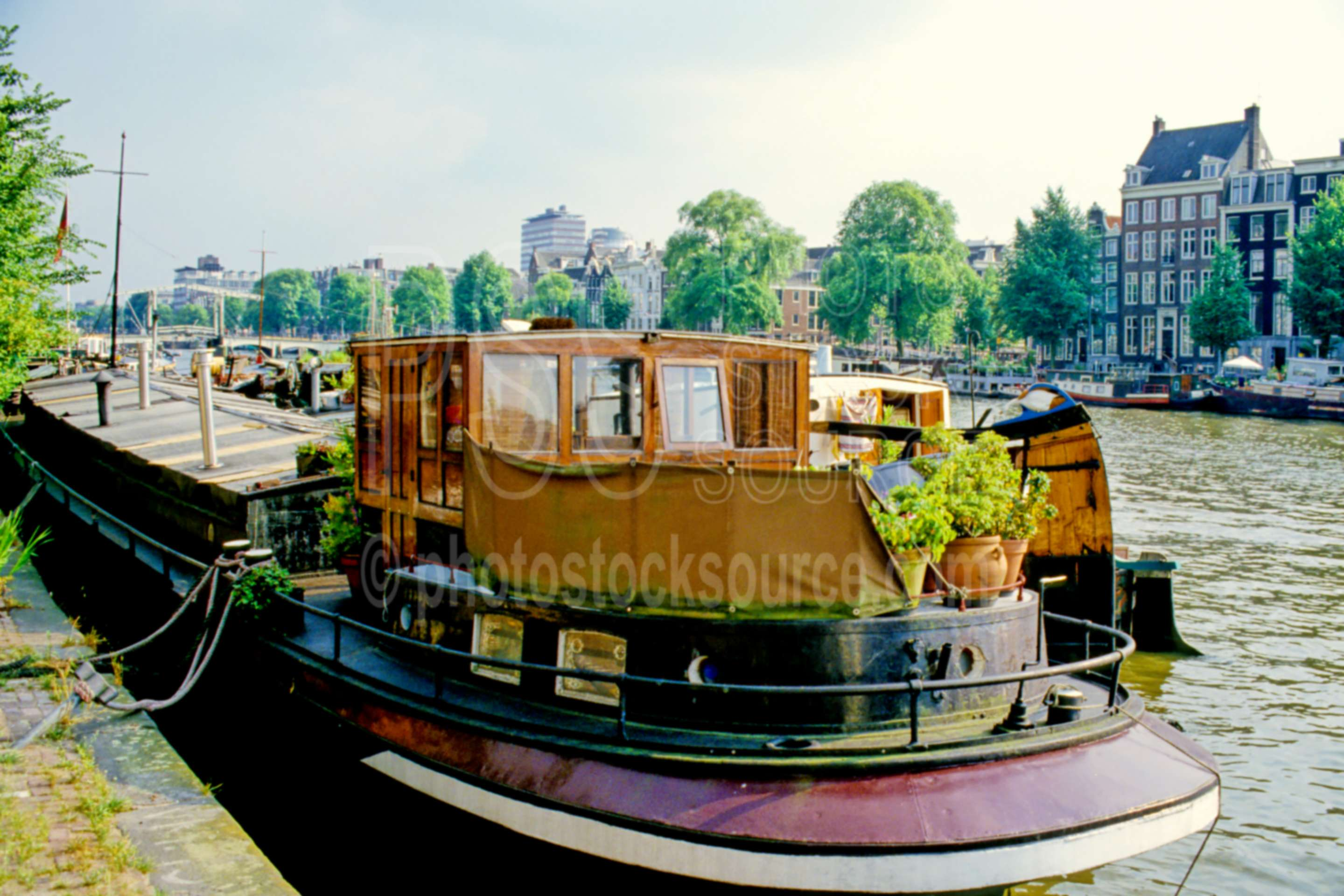 Barge on Canal,canal,europe,holland,boats ships,transportation