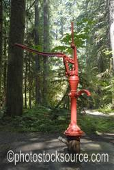 Photo of Old Red Water Pump