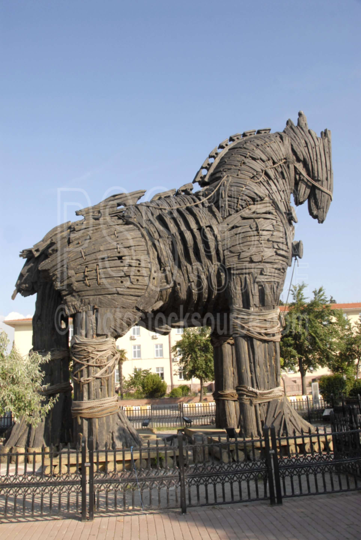 Photo Of Trojan Horse By Photo Stock Source Historical Canakkale Turkey Troy Brad Pitt Movie Horse Sculpture