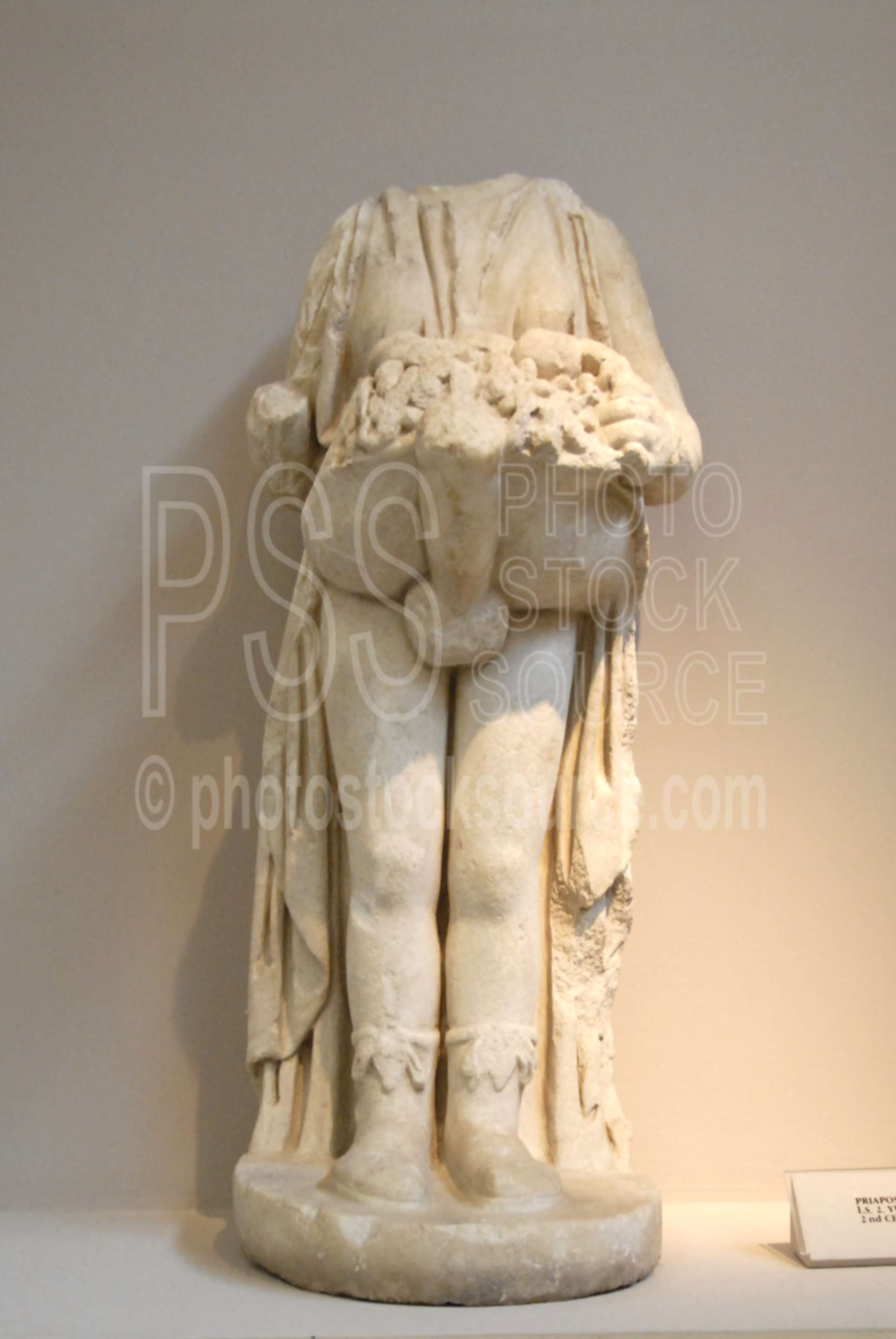 Status of Priapos,carved,marble,statue