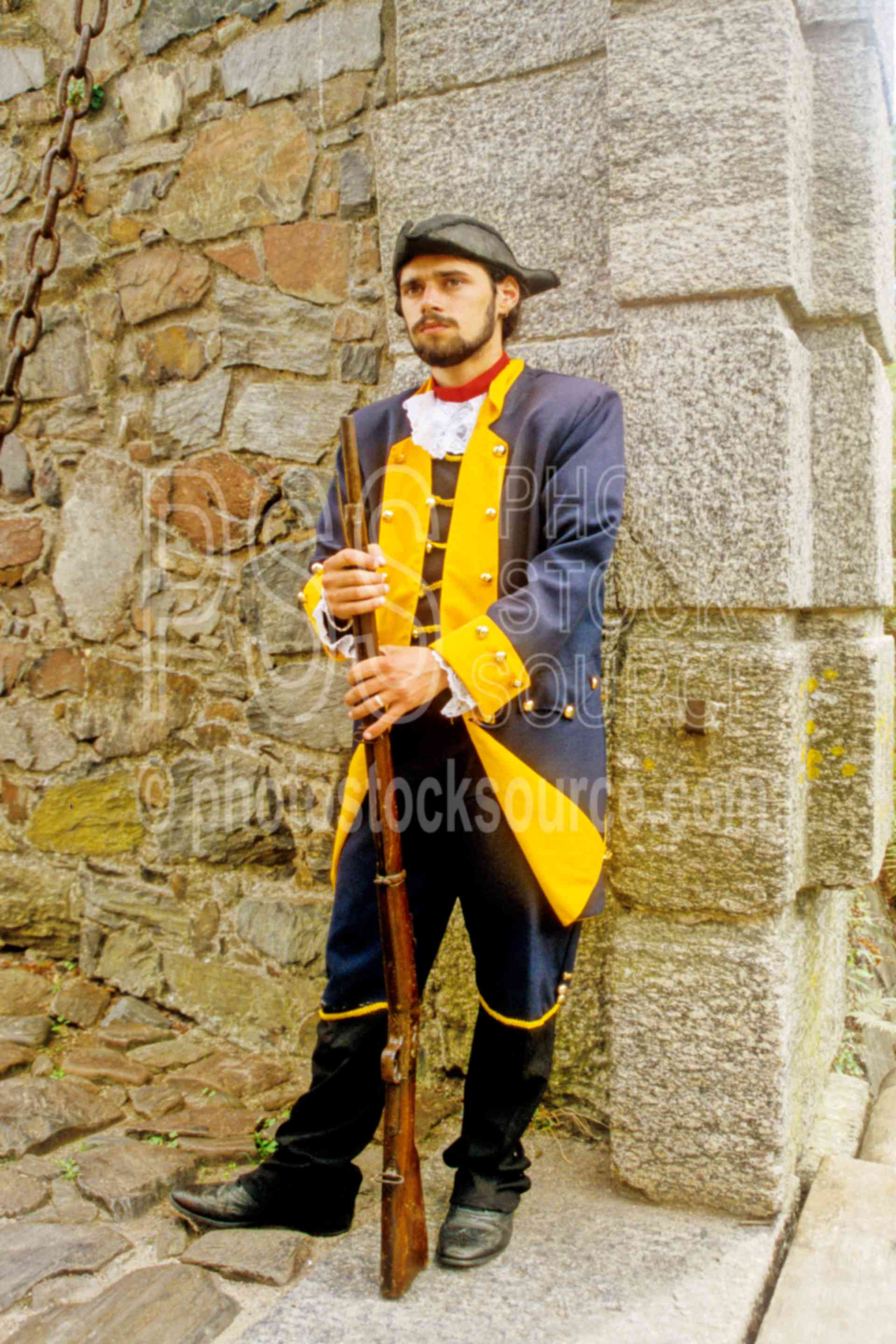 Colonial Soldier,gate,soldier,guns,military,uniform