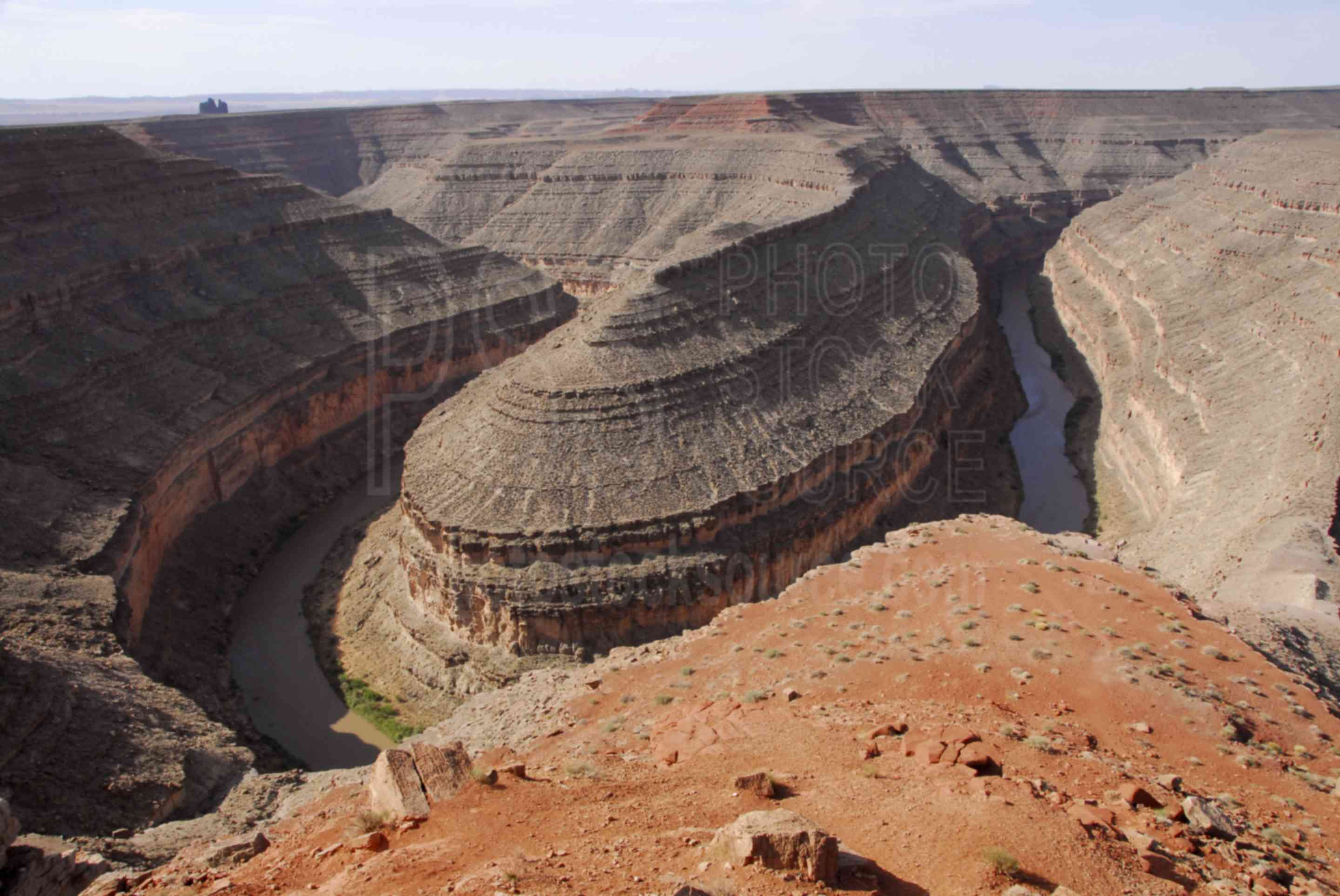 Goosenecks of San Juan River,goosenecks,bends,river,landform,winding,snake,nature