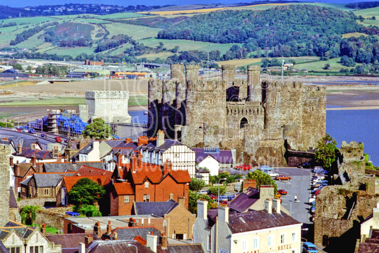 Conwy Castle,castle,europe,street,architecture,castles