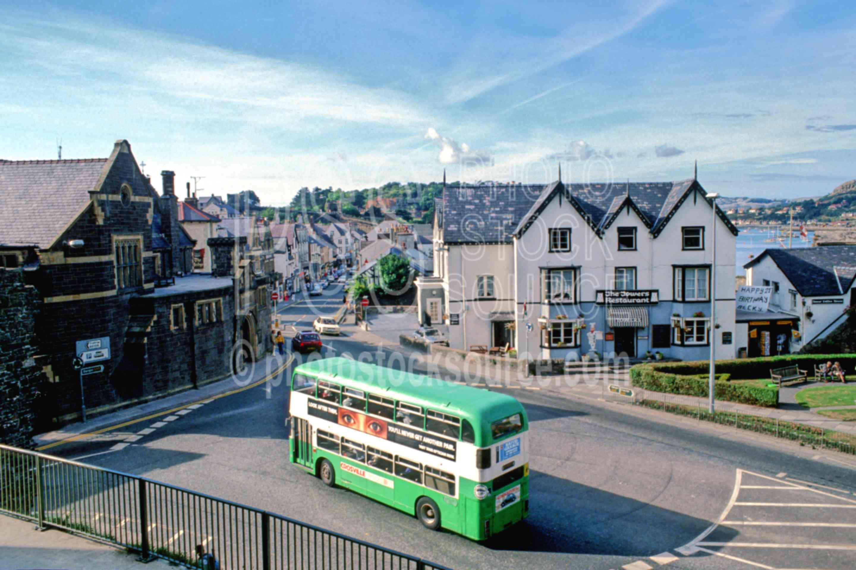 Green Double Decker Bus,buss,europe,green,street,public transport
