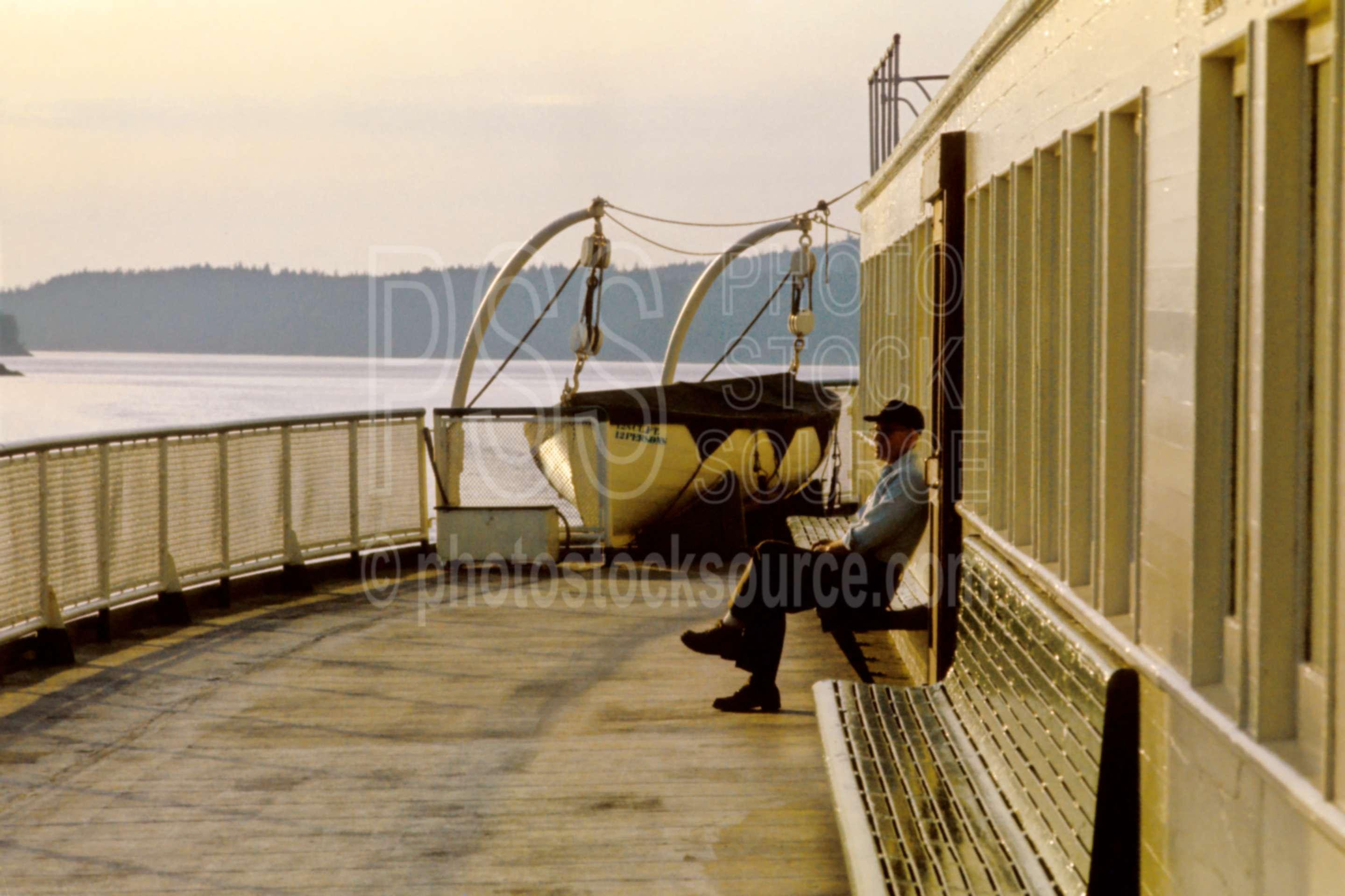 Ferry Boat Deck,puget sound,usas,boats